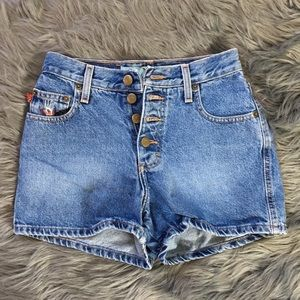 Muds Vintage Button Fly Jean Shorts Size 1